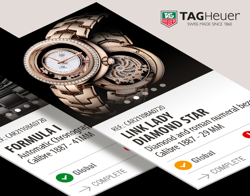 Tag Heuer admin interface