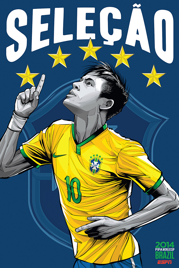 ESPN posters for 2014 FIFA World Cup
