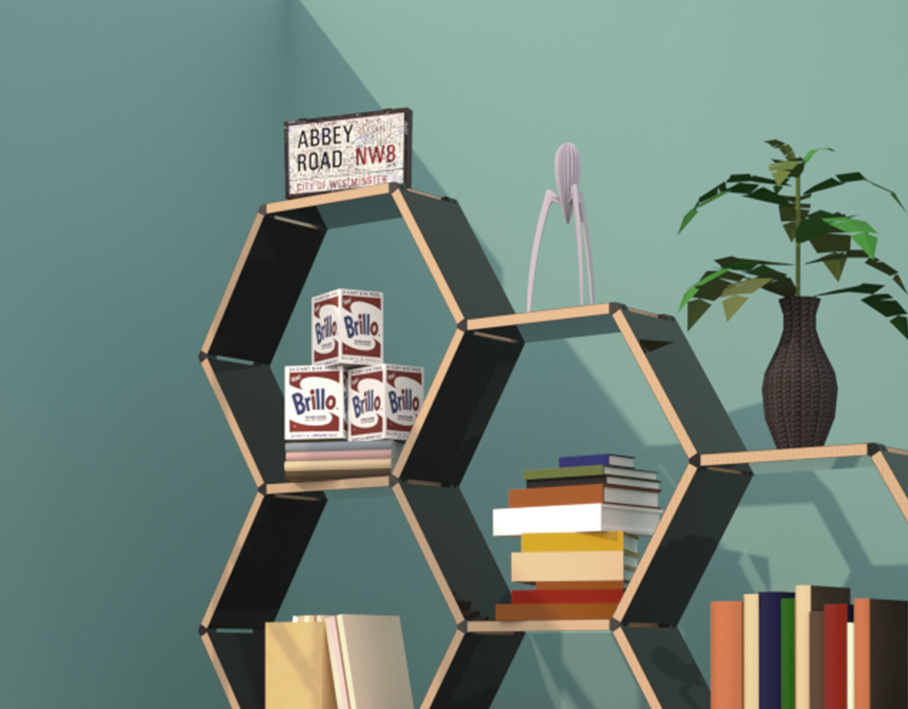 Hexagon - Shelving system