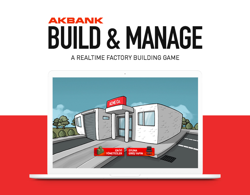 Akbank Kur & Yönet (Build & Manage) // Advergame