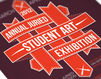 UNI Annual Juried Student Art Exhibition 2012 Poster