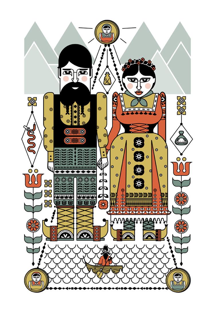 Gypsy Folk Tale Prints