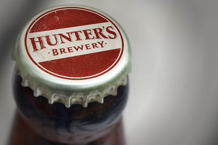 Hunters Brewery branding & packaging design