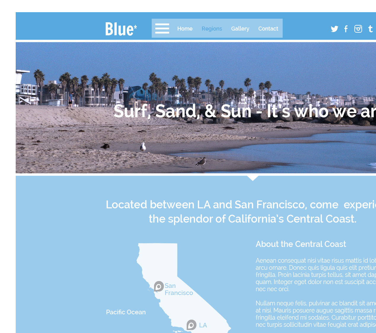 Blue* | Web Landing Page Theme Design