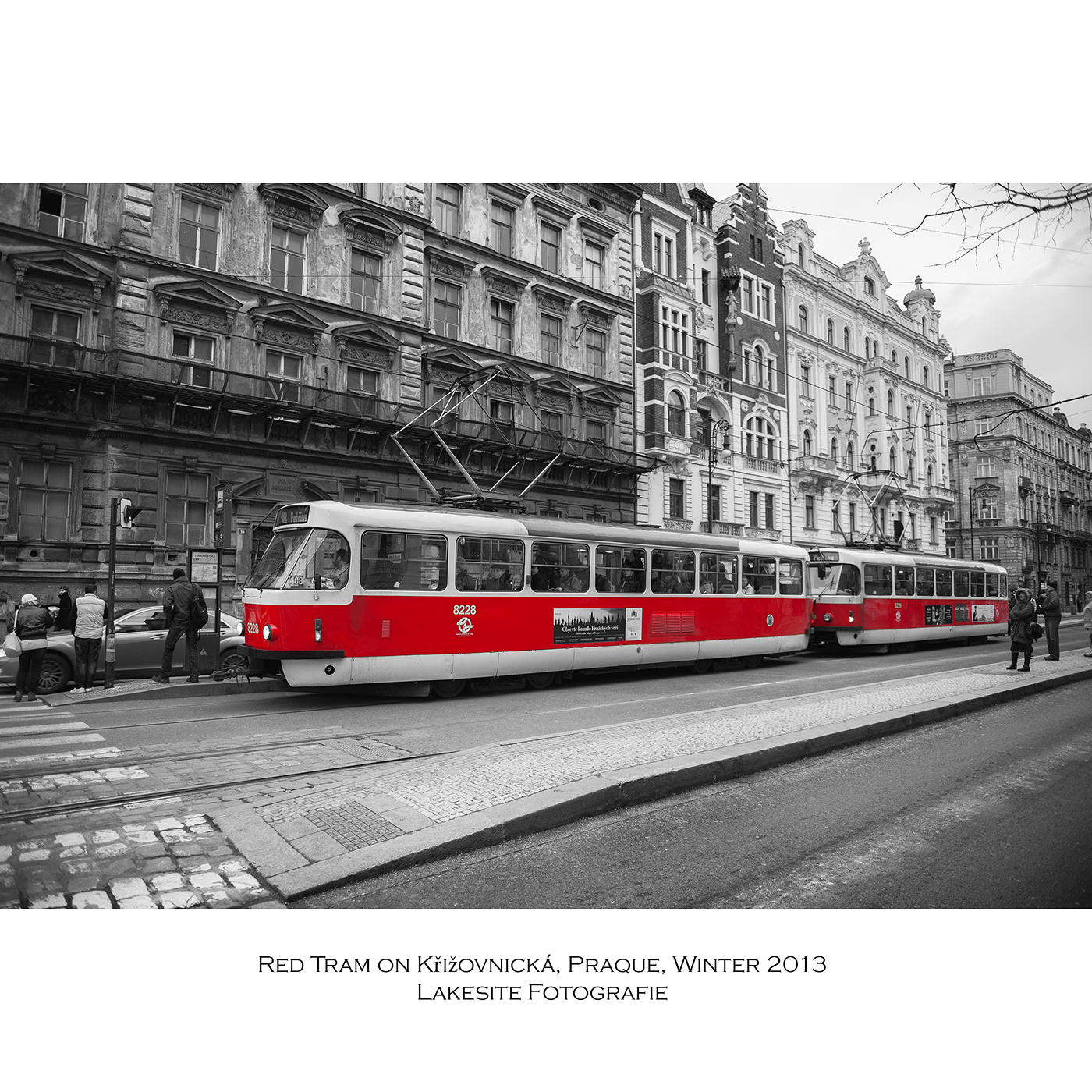Red Trams in Praque