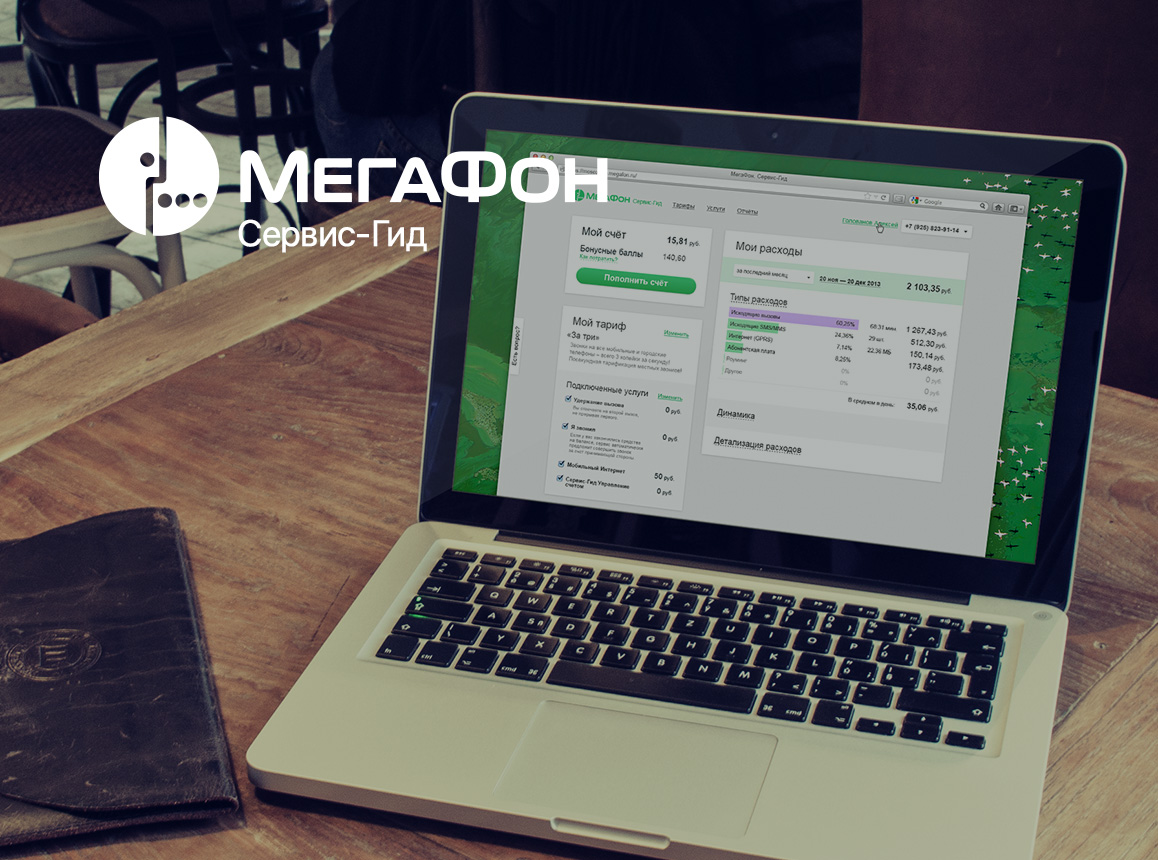 Megafon Service Guide. Redesign Concept