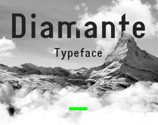 Diamante fonts