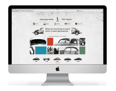 Volkswagen Beetle Website