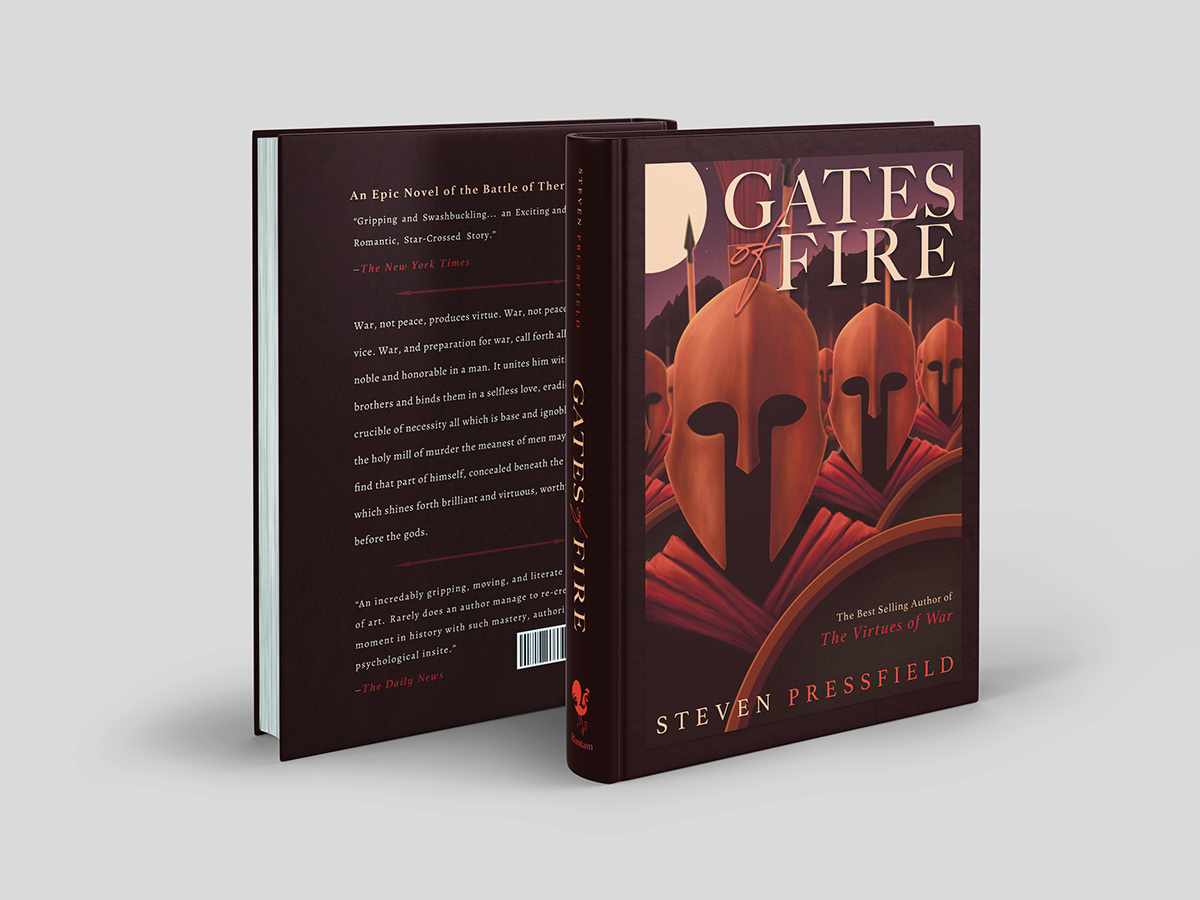 Gates of Fire illustration and book design