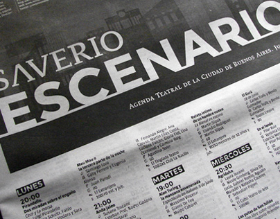 Saverio Escenario. Agenda Teatral de la C.A.B.A