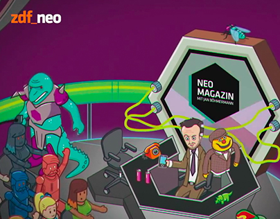 Video: Intro NEO MAGAZIN (Hoppenbrock-Vorspann)