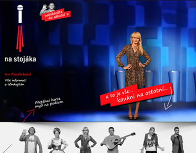 Webdesign - Czech TV´s Stand-up comedy show