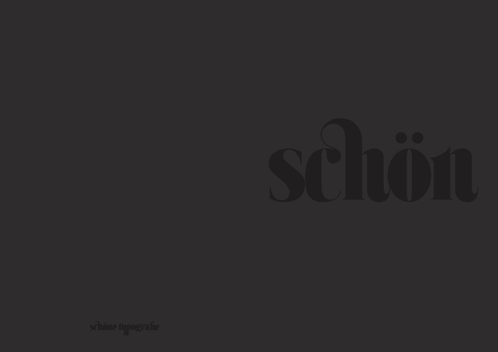 Schöne typographie