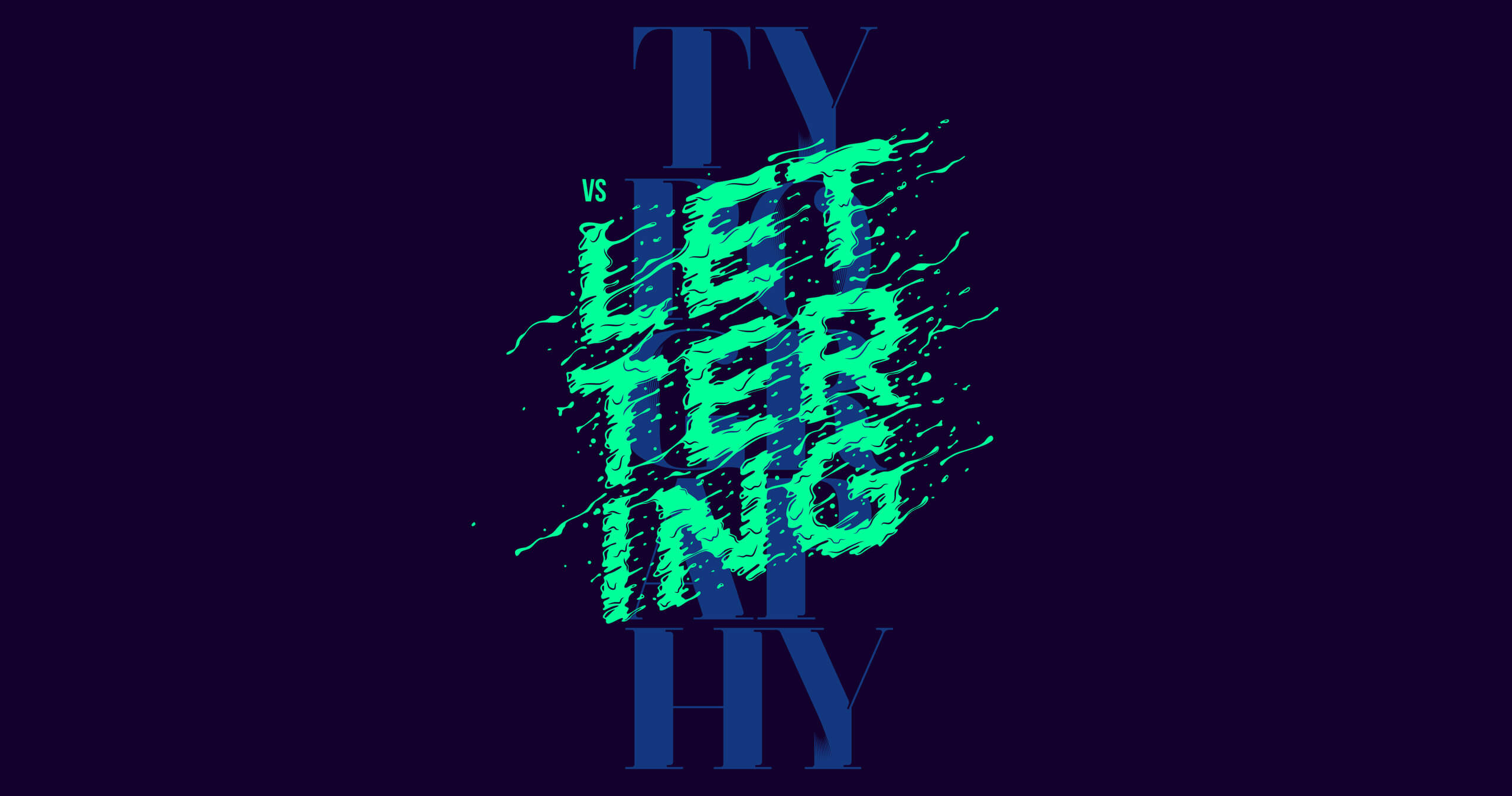 Typography VS Lettering Poster